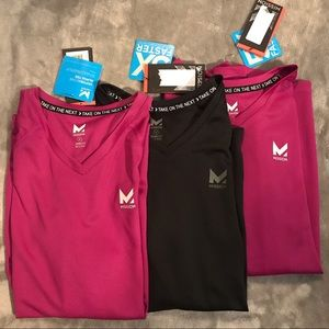 NWT Lot of 3 Mission Vaporactive Alpha LS Shirts S